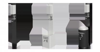 RUYMOR presenta su nueva línea de expositores con dispensador de gel automático y papelera con pedal