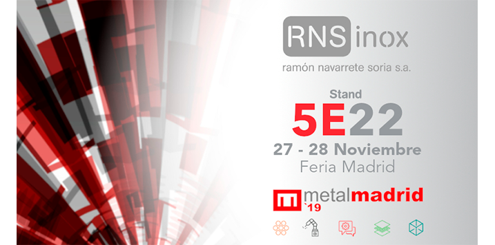 RNSINOX will attend the upcoming edition of the MetalMadrid trade show