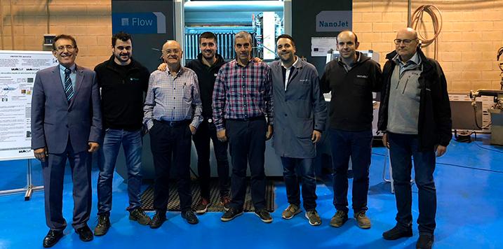 GRUPO IAM refuerza su oferta al completar con éxito el microcorte de precisión por agua